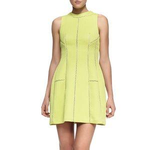 REBECCA TAYLOR Brocade Sleeveless Mini Shift Dress